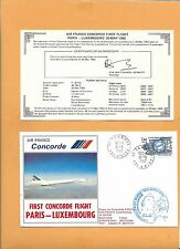 CONCORDE SST AIR FRANCE  FIRST FLIGHT PARIS LUXEMBOURG MAY 1982  FLOWN ON