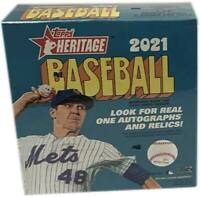 2021 Topps Heritage MLB Baseball MegaBox -Rare- Brand New & Factory Sealed!!!