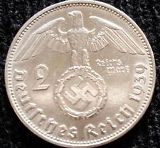 German WWII 2 Reichsmark SILVER 1939 Genuine Coin