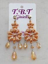 Moda estate Orecchini Grandi pendenti cristalli,Fiori,perlati,da Donna oro