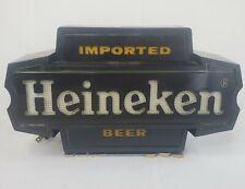 Vintage Heineken Imported Beer Bar Light Sign Wall Mount or Counter Man Cave