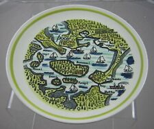 More details for poole pottery (poole harbour map) 23 cm plate
