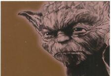 Star Wars Galaxy 4 Bronze Foil Chase Card #12 Yoda