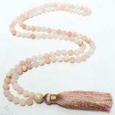 6mm Frosted Aventurine 108 Beads Handmade Tassel Necklace Mala Buddhism Fancy
