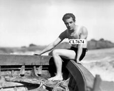 Ramon Novarro in Swimsuit at the Beach Photo