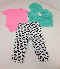 CARTERS TODDLER GIRL 3-PIECE MICRO SET 24M NWT $32