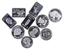 (10) Limited 1 Gram .999 Silver Bars/Rounds Lot Collection *496