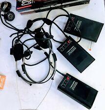 Realistic Voice Actuated Fm Transceiver Trc-500 - 3 Units w/ Original Headphones