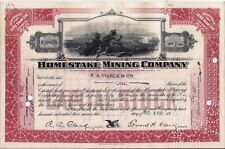 Stock certificate Homestake Mining Company California 1931-1932