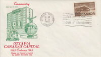 CANADA #442 5¢ NATIONAL CAPITAL FIRST DAY COVER