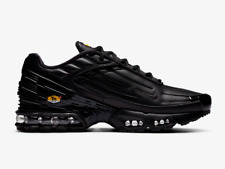 Nike Air Max Plus 3 Leather Tuned Trainers in Black