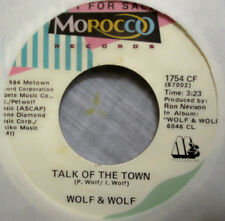 "Wolf & Wolf - TALK OF THE TOWN - Promo Vinyl 7"" Single [1984] NM"