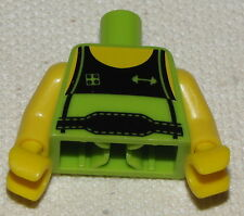 LEGO NEW MINIFGURE LIME GREEN WEIGHT LIFTING SERIES MINIFIG TORSO WITH BELT