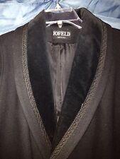 JOFELD Classic Wool Coat solid BLACK sz 14 Sale from $99. To $55.50!!