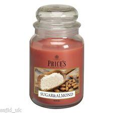 Prix de bougies grande jar bougie parfumée-sucre & d'amande-free p&p