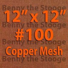 "100% Copper 100 Mesh /150 Micron / Kief Box Mesh / Dry Sift Screen 12""x12"""