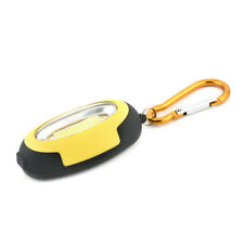 Mini COB LED Flashlight KeyChain ABS Keyring Torch Lamp Camping Light