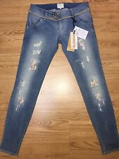 Met Jeans Donna/Women Micro Borchie/strass Tg.29(28)