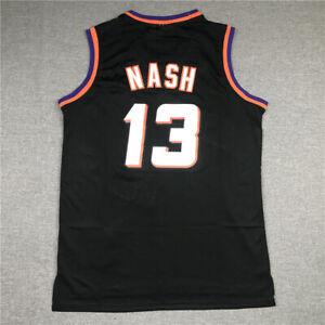 Steve Nash 13 Phoenix Suns Black Purple Throwback Jersey