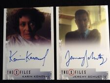 The X Files 2018 Autograph Cards Includes: Jeremy Schuetze & Karin Konoval