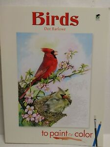 Dot Barlowe Lot of 3 Birds to Paint or Color Country Scenes Flower Gardens