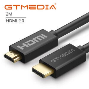 2M Largo HDMI Cable Alta Velocidad v2.0 HD 4K 3D arco para PS3 PS4 Xbox One Sky