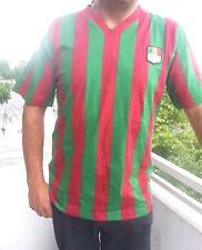 Trikot 170/176 L NEU T-Shirt gestreift lang Fussball Shirt unisex rot/grün Retro