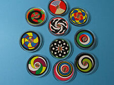 """Pogs Slammers * The Simpsons """" Complete Set of 10 * Free U.S. Shipping"""