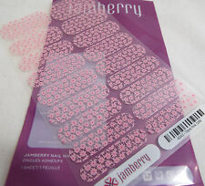 Jamberry Think Pink 0316 43A2  (Full Sheet) Breast Cancer Awareness Nail