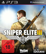 PS3 / Sony Playstation 3 Spiel - Sniper Elite III (3) (mit OVP)(USK18)