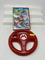 Nintendo Wii U Mario Kart 8  Game Complete w/ Wii U Mario Wheel