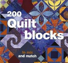 200 Quilt Blocks: To Mix and Match, Very Good Books