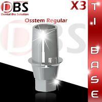 3X Dental Implant Ti-Base For Osstem / Hiossen For Regular Platform With Hex
