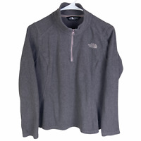 The North Face Women's 1/4 Zip Fleece Pullover Medium Gray Pink Lightweight