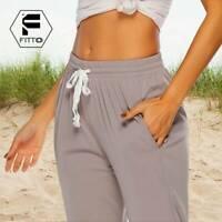 US Womens Casual Sweatpants Jogger Dance Harem Pants Sports Baggy Trousers R960