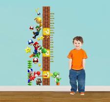 Super Mario Bros Height Chart Wall Sticker Decal Decor Art Mural Kids WC100