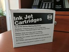 2 Unused Pitney Bowes Red Ink Jet Cartridges for E700 Series Mailing Machines