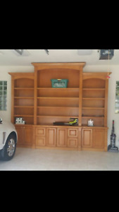 Used Bookcase Unit 148WX132H For Garage