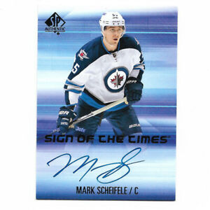 Mark Scheifele 2011-12 Upper Deck SPA Sign of the Times Autographed Card