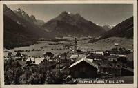 Fulpmes Stubai Tirol Österreich s/w Postkarte ~1930 Gesamtansicht Echtfoto-AK