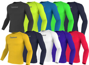 Didoo New Men's Full Sleeve Compression Shirts Running Tops Training Base Layers
