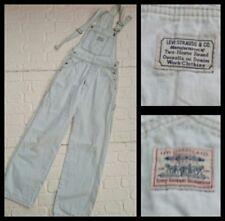 Peto vaquero Levi's Vintage W 26 28 L30 Aprox UK 8 mono blanco Tab 36731