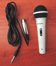 Microphone BLANC SKYTEC CHANT CHARAOKE câble Pro XLR Jack Animation Scène