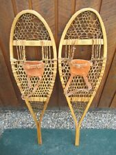 "NICE Pair SNOWSHOES 41"" Long x 12"" Wide FABER Leather Bindings READY TO USE"
