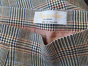 Vintage AQUASCUTUM Classic Multi Check Pencil Skirt .. Fits UK 8  Immaculate