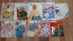 knitting patterns job lot of 30 childrens & babies modern & vintage