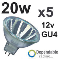 5 x MR11 20w Halogène Reflecteur / Ampoule 12v GU4 35mm
