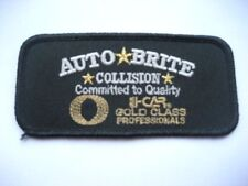 """AUTO BRITE COLLISION EMBROIDERED SEW ON PATCH CAR ADVERTISING UNIFORM  4"""" x 2"""""""
