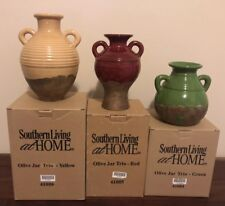 SOUTHERN LIVING AT HOME OLIVE JAR TRIO VASES ~ NIB 41004/41005/41006