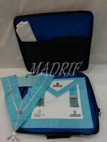 Masonic Regalia Worshipful Mason Apron Collar and Soft Regalia Bag